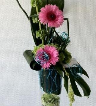 Composition florale prestation Champagne Création - Création Andivina Fleurs