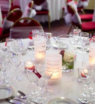 Décoration de table sur réception de mariage